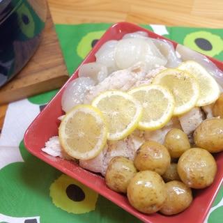 ストウブで作る 鶏むね肉の無水レモン蒸し