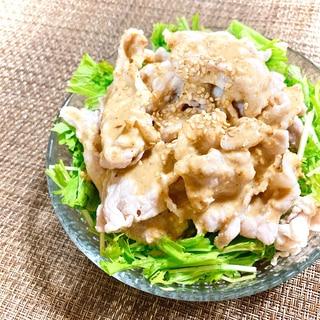 棒棒鶏だれで♪水菜の冷しゃぶサラダ