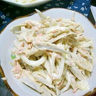 副菜に/・ω・)/☆ごぼうと玉ねぎのツナマヨサラダ
