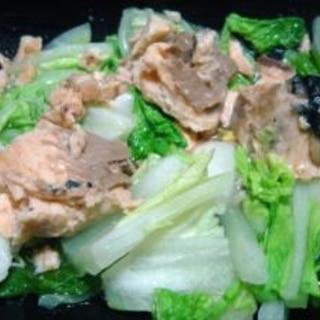 シリコンスチーマーで簡単すぎる白菜と鮭缶の酒蒸し