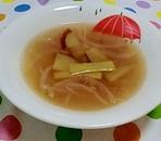 さつまいもと玉ねぎのコンソメスープ