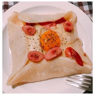 時短朝食♪そば粉不要!小麦粉で簡単ガレット♡