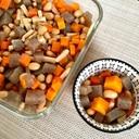 レンジで作る常備菜☻大豆と蒟蒻