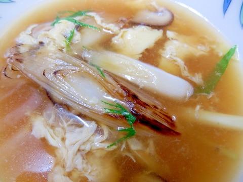冬にぴったり焼きネギスープ