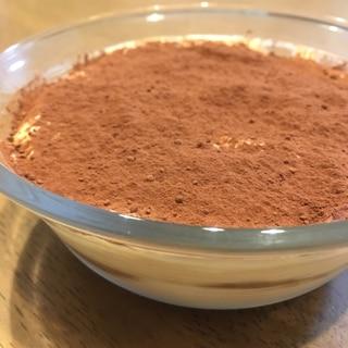 生クリーム不使用、簡単ヨーグルトティラミス
