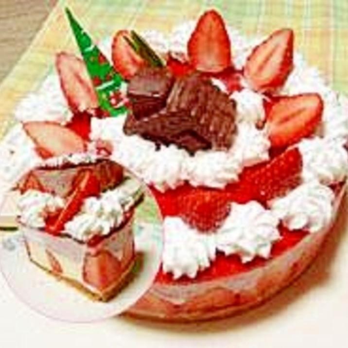 オーブン不要!クリスマスのムースケーキ!