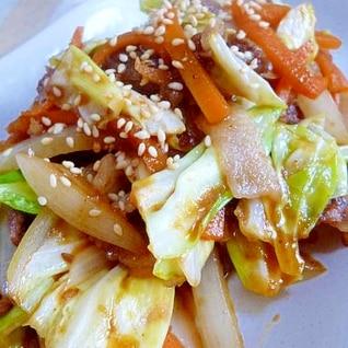 残り野菜で~野菜炒め(万能タレ)