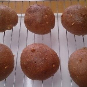 低糖質!HBでこねる小麦ふすまと大豆粉のゴマ丸パン