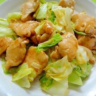 キャベツと鶏むね肉のピリ辛炒め