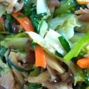 大量野菜のくたくた炒め