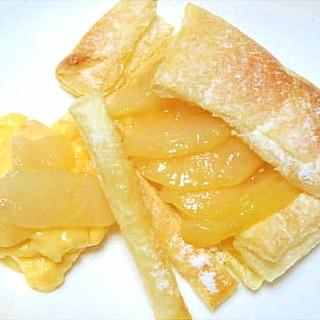 洋梨のカスタードクリームパイ