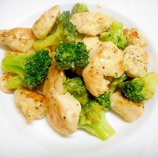 鶏むね肉とブロッコリーのマヨ炒め