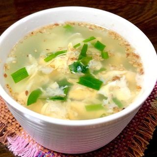 簡単5分❤️材料5つ!ニラ玉スープ