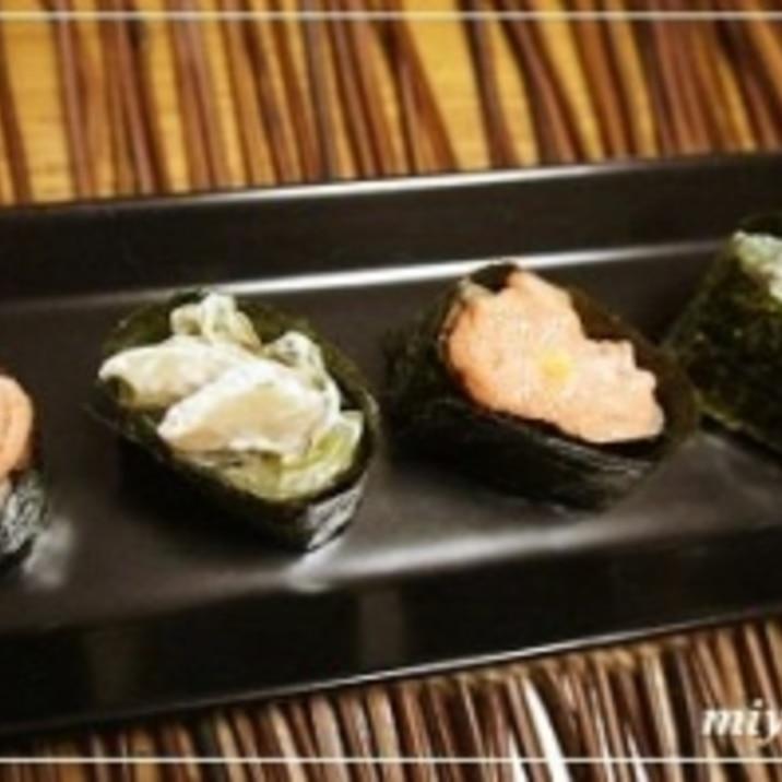 お正月の余ったお餅で簡単&美味しい「餅寿司」♬
