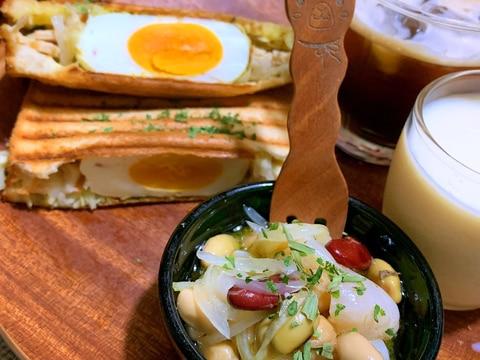 帆立とサラダ豆の山椒マリネ