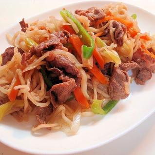 牛肉と切干大根★甘辛炒め~♪