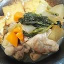 優しい味わい✨厚揚げと根菜の煮物