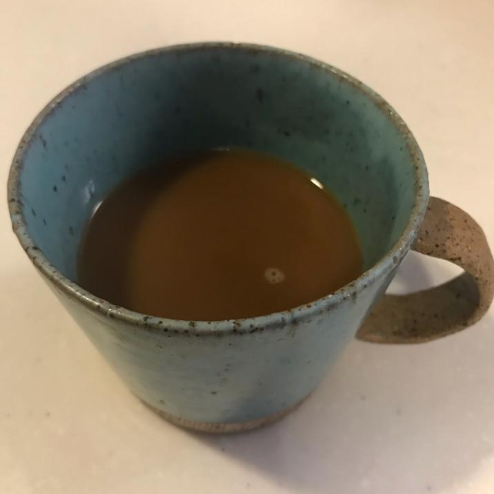父が入れる美味しいコーヒーでジンジャーラテ