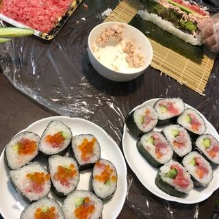 恵方巻・巻き寿司のコツを伝授!山を2つ作る♪