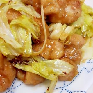 簡単(^^)鶏もも肉とキャベツのバターポン酢炒め♪
