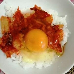 キムチチーズ卵かけごはん