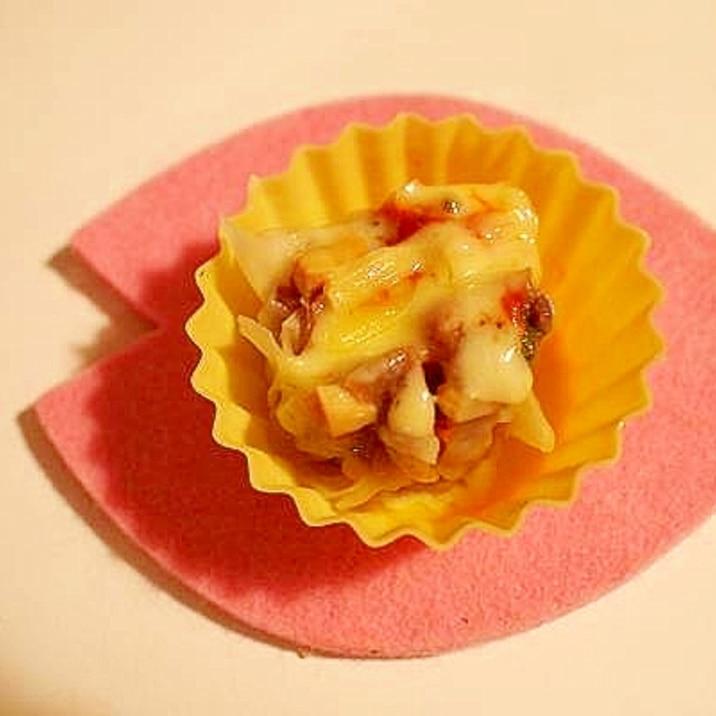 お弁当に♪ レンジでシュウマイのケチャ&チーズ