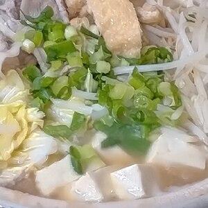 豚肉と白菜の味噌鍋♪