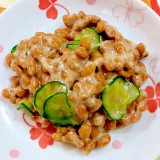 きゅうりの酢納豆