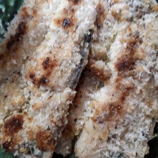 いわしの開きのパン粉焼き