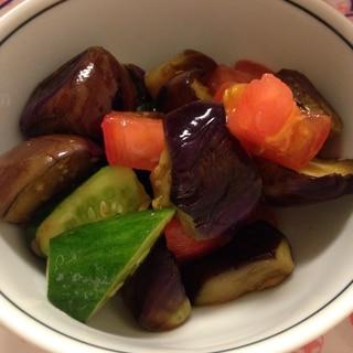 なすトマトきゅうりの麺つゆ浸し