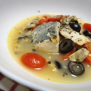【簡単】鯛のアクアパッツァ風スープ