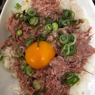 コンビーフ丼^ - ^