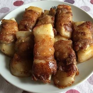 余ったお餅とチーズで豚バラ巻き・焼肉のたれ味