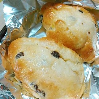 タジン鍋で蒸かして美味☆バターシュガーレーズンパン