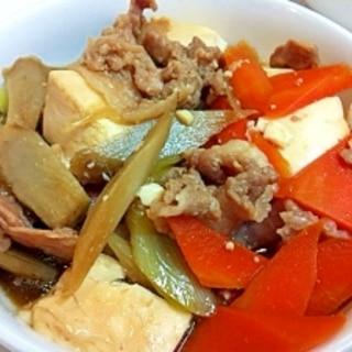 我が家の大人気メニュー☆すき焼き風肉豆腐