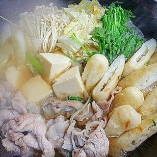 残り野菜を断離捨~☆きりたんぽ鍋