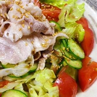 豚しゃぶ和風バルサミコ酢サラダ