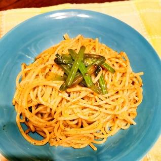 焼肉のタレでスパゲティ(•ө•)♡