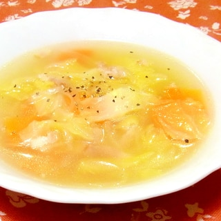 ホエーで野菜スープ