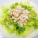 豚しゃぶと豆苗レタスのサラダ