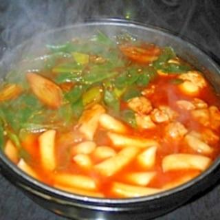 長葱とトッポッキの鍋