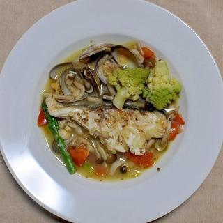 下味冷凍の鱈を使って作る◇アクアパッツァ