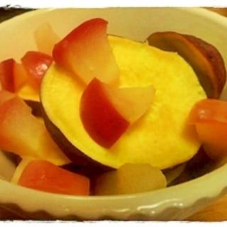 レンジだけ!おやつにも☆林檎とさつま芋のこっくり煮