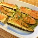簡単おつまみ☆茄子の明太マヨ焼き