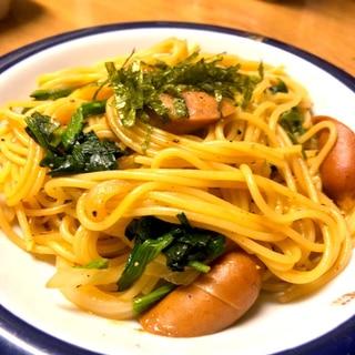 ピリ辛焼きそば風パスタ★野菜とチョリソー