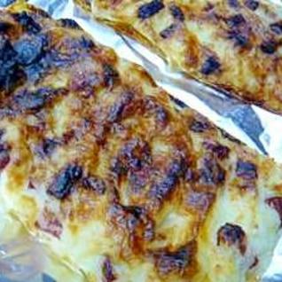 洋風介護食 マッシュポテトのサラミチーズ焼き