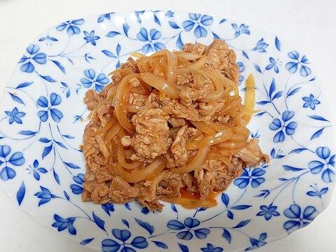 甘辛豚と玉ねぎの炒め物++