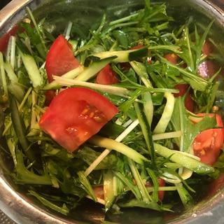 水菜ときゅうりのナムル