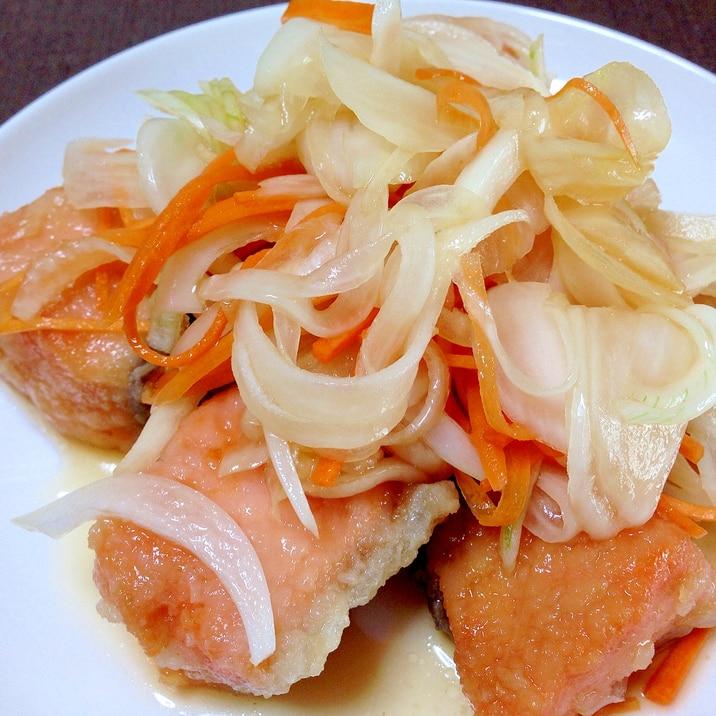 揚げ焼きで簡単☆鮭の南蛮漬け