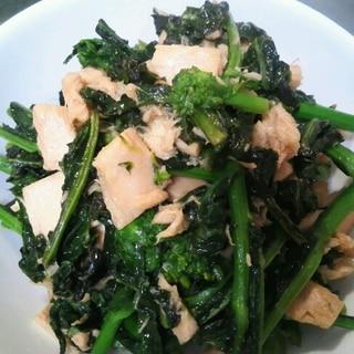 折り菜とツナの炒め物